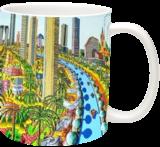 naive paintings folk artist painter urban landscape paintings raphael perez israeli artist, Architecture,Folk Art,Paintings, Fauvism,Fine Art,Primitive, Architecture,Cartoon,Children,Figurative,Landscape, Acrylic,Canvas, By raphael perez