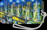 naive paintings folk artist painter urban landscape paintings raphael perez israeli artist, Architecture,Folk Art,Illustration,Paintings, Fine Art,Pop Art,Primitive,Realism, Cartoon,Children,Fantasy,Figurative,Landscape, Acrylic,Canvas, By raphael perez