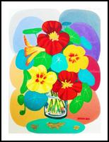 NASTURTIUM, Paintings, Realism, Floral, Mixed, By Zenon Wladyslaw Rozycki
