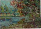 Near the Pond, Paintings, Impressionism, Landscape,Nature, Oil, By Liudvikas Daugirdas