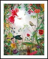 Neon Nature, Digital Art / Computer Art,Photography, Fine Art,Surrealism, Animals,Botanical,Floral,Land Art,Nature, Digital,Photography: Photographic Print, By Jesper Krijgsman