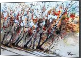 New England Birches, Paintings, Fine Art, Landscape, Watercolor, By james Allen lagasse