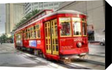 New Orleans - Canal Street Trolley, Photography, Fine Art, Cityscape,Daily Life,Historical, Digital, By Timothy Lowry