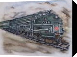 New York Central Train, Paintings, Fine Art, Machnine Forms,Moving Images,Portrait, Painting, By Kelly A Mills