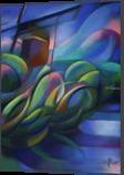 Nieuwe Veenmolen – 18-11-17, Drawings / Sketch, Abstract,Cubism,Fine Art, Composition,Figurative,Inspirational,Landscape,Nature, Pastel, By Corne Akkers
