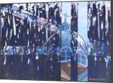 Night Falls Over St Anne's, Paintings, Abstract, Architecture, Acrylic, By Martha Struber