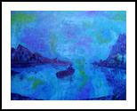 Night Time Fishing, Land Art, Expressionism, Landscape, Acrylic,Canvas, By Loretta Hon