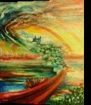 Night trips, Paintings, Surrealism, Fantasy,Spiritual, Acrylic,Canvas, By Marta Kuźniar