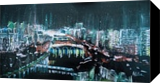 NIGHT VIEW IN HONG KONG, Paintings, Abstract, Modernism, Pop Art, Architecture, Cityscape, Acrylic, Wood, By HSIN LIN