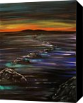 Night Walk, Paintings, Fine Art, Nature, Acrylic, By adam santana