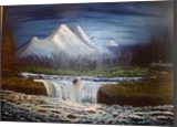 Nightfall, Land Art,Paintings, Fine Art,Realism, Landscape, Canvas,Oil,Painting, By Lana karin Fultz