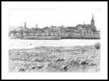 Nijmegen - 21-04-14, Drawings / Sketch, Abstract,Fine Art,Impressionism,Realism, Architecture,Composition,Figurative,Inspirational,Landscape,Nature, Pencil, By Corne Akkers