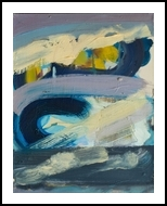North Sea Weather, Paintings, Abstract,Expressionism,Fine Art, Avant-Garde,Composition,Nature,Seascape, Canvas,Oil,Painting, By eugene power