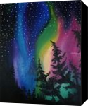 Nothern Lights, Paintings, Expressionism,Fine Art,Minimalism,Surrealism, Inspirational,Land Art,Landscape,Wildlife, Canvas,Oil,Painting, By Robert Douglas Given