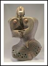 nude6 (1-2016h), Sculpture, Primitive, Figurative, Clay, By PEDRO A MONGRUT
