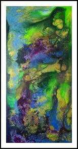 Observing Women, Decorative Arts, Abstract,Hallucinogens, 3-D,Spiritual, Acrylic,Wood, By Hendrik Reuss