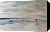 Ocean with View, Paintings, Impressionism, Seascape, Watercolor, By Christina Giza