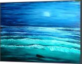 Ocean at Night, Land Art,Paintings, Fine Art, Landscape, Canvas,Oil,Painting, By Lana karin Fultz