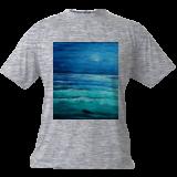 Ocean at Night, Land Art,Paintings, Fine Art, Landscape, Canvas,Oil,Painting, By Lana karin Fultz
