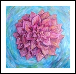 Oh the treasure in Lotus flower, Paintings, Impressionism, Botanical, Oil, By Sana Verba