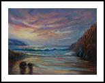 Oil on loose Belgian linen - Snelling beach , Kangaroo Island, Paintings, Fine Art,Impressionism,Realism, Landscape,Seascape, Canvas,Oil, By Christopher Vidal