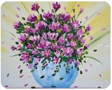 OIL PAINTING FLOWERS IN VASE, Paintings, Expressionism,Impressionism, Botanical,Daily Life,Fantasy,Floral, Canvas,Oil, By Nataliia Plakhotnyk