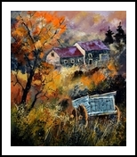 Old barrow, Paintings, Expressionism, Landscape, Canvas, By Pol Henry Ledent