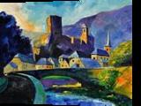 Old castle, Paintings, Expressionism, Landscape, Canvas, By Pol Henry Ledent