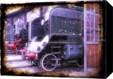 Old steam trains in depot 08485m1, Digital Art / Computer Art,Photography, Fine Art,Impressionism,Modernism,Realism,Street Art, Avant-Garde,Cityscape,Daily Life,Documentary,Environmental art,Historical,Machnine Forms, Photography: Photographic Print, By Ksavera Art