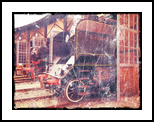 Old steam trains in depot 08485m3, Photography, Fine Art,Modernism,Photorealism,Realism,Surrealism, Avant-Garde,Cityscape,Conceptual,Daily Life,Documentary,Environmental art,Historical,Machnine Forms, Photography: Stretched Canvas Print, By Ksavera Art