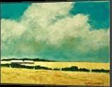 Old Storage Sheds, Paintings, Fine Art,Impressionism,Photorealism,Realism, Landscape, Acrylic,Canvas, By David John Edwards