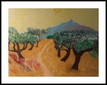 Olive Trees, Paintings, Impressionism, Landscape, Oil, By MD Meiser
