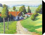 On the Way to Vienna, Paintings, Impressionism, Landscape, Canvas,Oil, By Mason Mansung Kang
