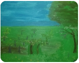 Orchard, Paintings, Impressionism, Landscape, Oil, By MD Meiser