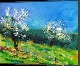 Orchard 564150, Paintings, Impressionism, Landscape, Canvas, By Pol Henry Ledent