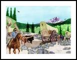Oregon At Last, Digital Art / Computer Art,Drawings / Sketch,Illustration, Commercial Design,Fine Art,Realism, Animals,Children,Documentary,Historical,Landscape,Narrative,Nature,Wildlife,Window on the World, Digital,Pencil, By Marty Jones