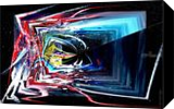 Oribilis I, Paintings, Abstract, 3-D,Avant-Garde,Fantasy,Grotesque, Acrylic,Digital, By Sévi Cabell Maghee