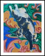 Oriental Beauty, Paintings, Surrealism, Animals, Acrylic,Canvas, By Victor Ovsyannikov