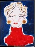 Abigail, Paintings, Abstract,Impressionism,Minimalism,Modernism,Primitive, Portrait, Acrylic,Canvas, By Lianne Kocks