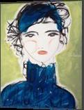 Ana, Paintings, Abstract,Impressionism,Minimalism,Modernism,Primitive, Portrait, Acrylic, By Lianne Kocks