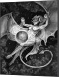 Otherworldly, Drawings / Sketch, Fine Art,Realism,Surrealism, Celestial / Space,Erotic,Fantasy,Nudes,People, Pencil, By Rebecca Suzanne Magar