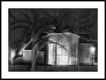 Oude Kerk (The Old Church) at Voorburg -12-17, Drawings / Sketch, Abstract,Cubism,Fine Art,Impressionism, Architecture,Cityscape,Composition,Figurative,Inspirational,Landscape,Nature, Pencil, By Corne Akkers