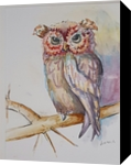 Owl always love you, Decorative Arts, Commercial Design, Animals, Watercolor, By Defined by Art With Lauren