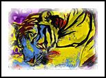 Painted Tiger, Digital Art / Computer Art, Abstract, Animals, Digital, By Joshua Bindseil