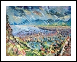 palermo, Paintings, Expressionism, Landscape,Nature, Oil, By antonino puliafico