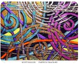 Particle Track #52, Paintings, Abstract, Avant-Garde, Mixed, By Scott L Wallin