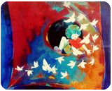 Passion of the childhood vi, Paintings, Abstract,Expressionism,Pop Art,Realism,Surrealism, Children,Conceptual,Decorative,Mythical, Acrylic,Canvas, By Shiv Kumar Soni