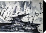 Payne's River, Paintings, Abstract, Landscape, Watercolor, By james Allen lagasse