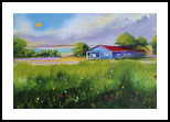 Peaceful Day, Paintings, Impressionism, Landscape, Oil, By Alicia Maury Fine Art