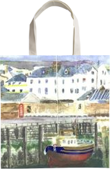 Peel Harbour, Isle of Man, Paintings, Realism, Seascape, Watercolor, By Michelle Katrina Archer